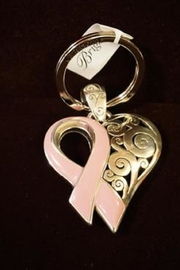 Brighton Power Of Pink Key Fob - Front cropped