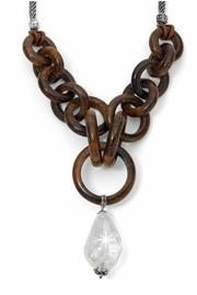 Brighton Wooden Links Necklace - Front cropped