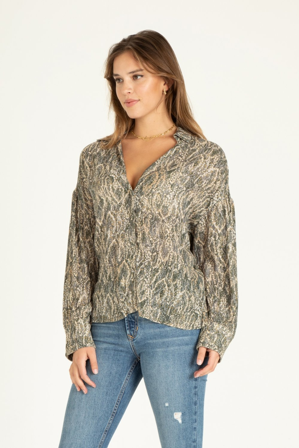 another love  Brittany diamondback print blouse - Front Full Image