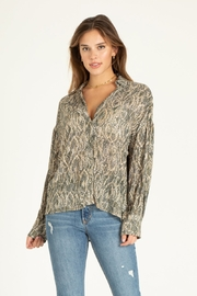 another love  Brittany diamondback print blouse - Front cropped