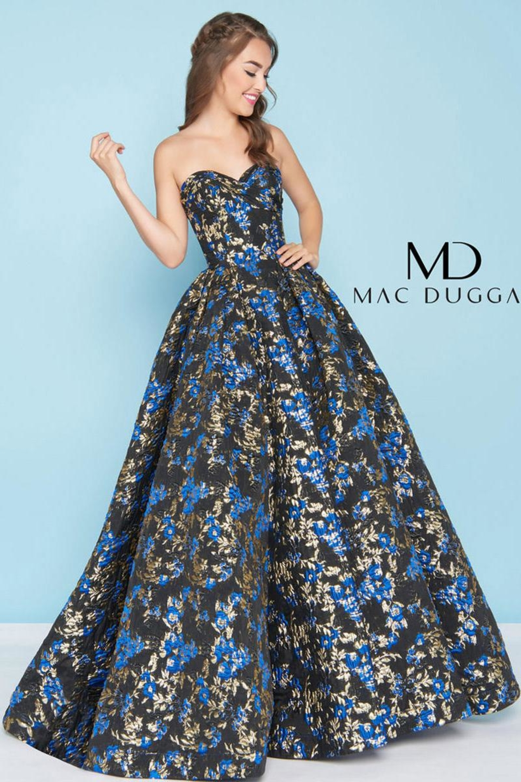 b41a09af89e Mac Duggal Brocade Ball Gown from Wallingford by The Dressing Room ...