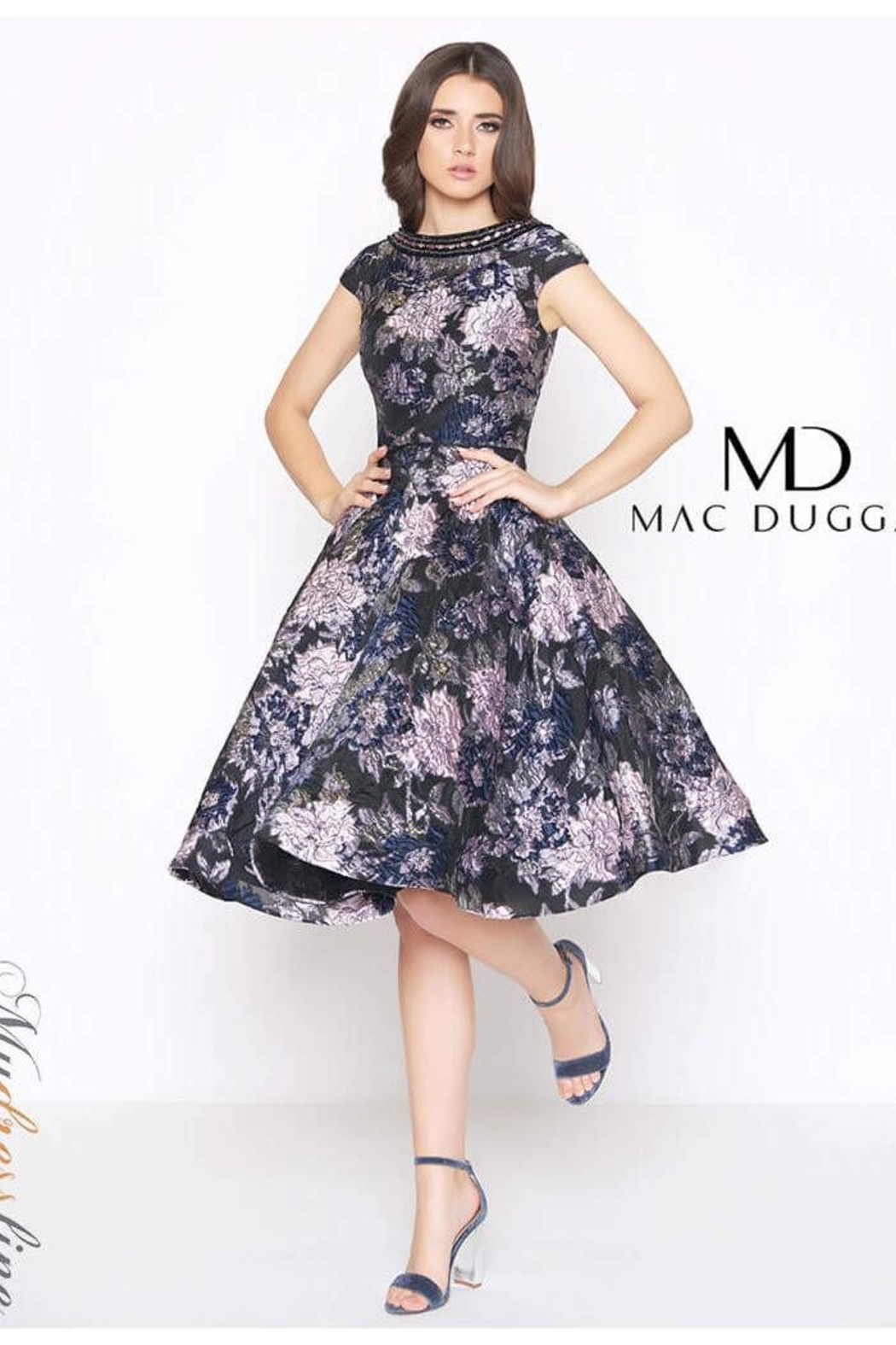 Mac Duggal Brocade Cocktail Dress - Front Cropped Image
