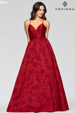 Faviana Brocade Sweetheart Gown - Product List Image
