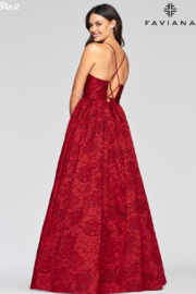 Faviana Brocade Sweetheart Gown - Side cropped
