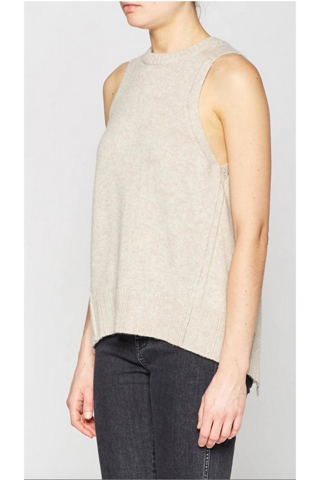 Brochu Walker Pleated Looker Tank - Side Cropped Image