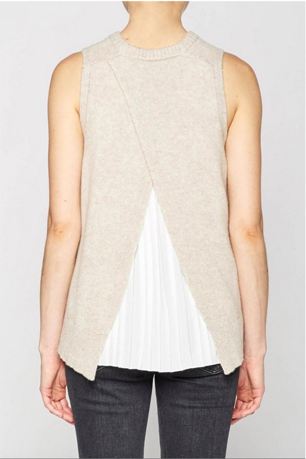 Brochu Walker Pleated Looker Tank - Back Cropped Image