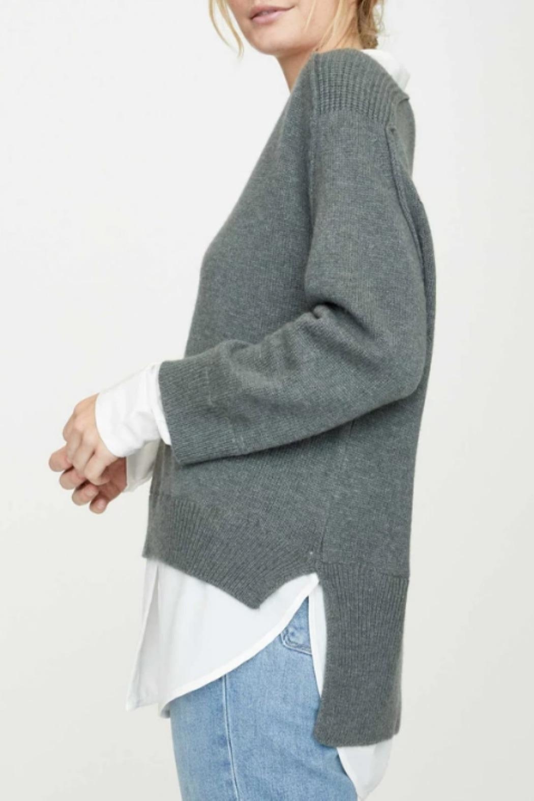 Brochu Walker V-Neck Layered Pullover - Side Cropped Image