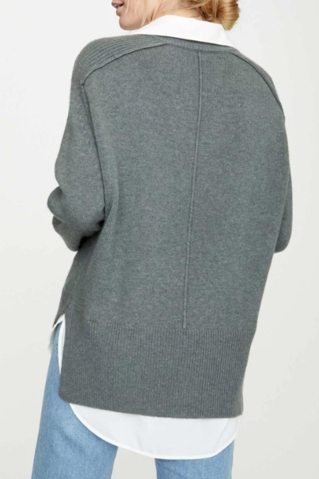 Brochu Walker V-Neck Layered Pullover - Back Cropped Image