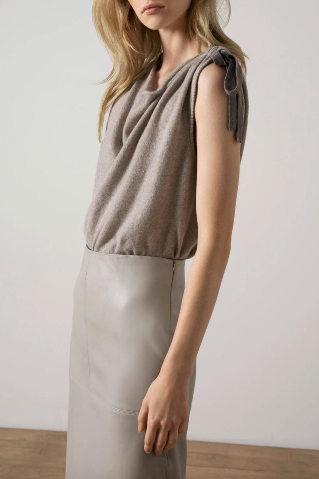 Brochu Walker Vos Twist Top - Front Cropped Image