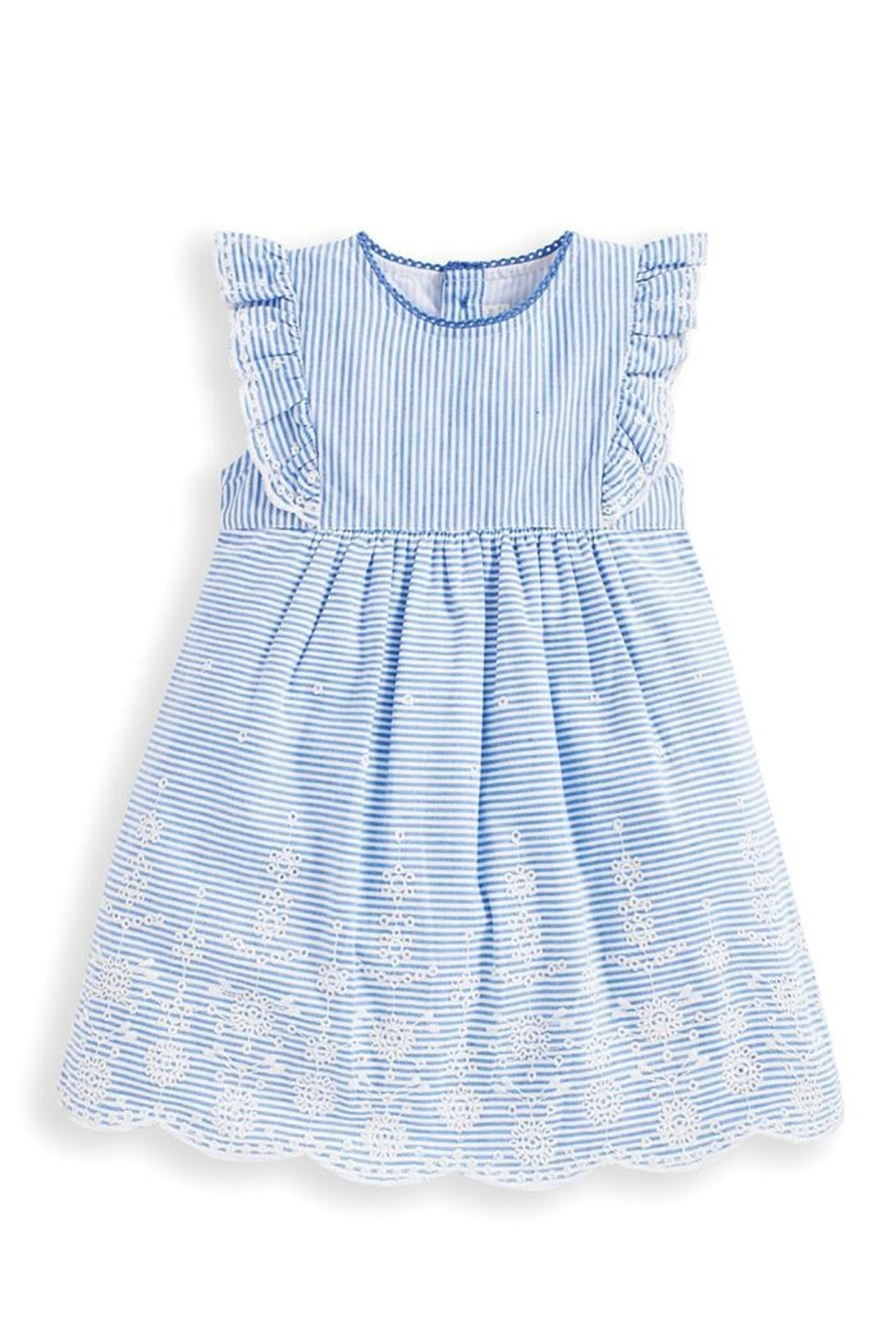 JoJo Maman Bebe Broderie Anglaise Dress - Front Cropped Image