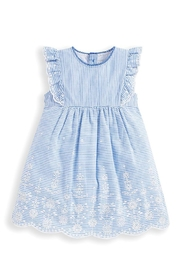 JoJo Maman Bebe Broderie Anglaise Dress - Front cropped