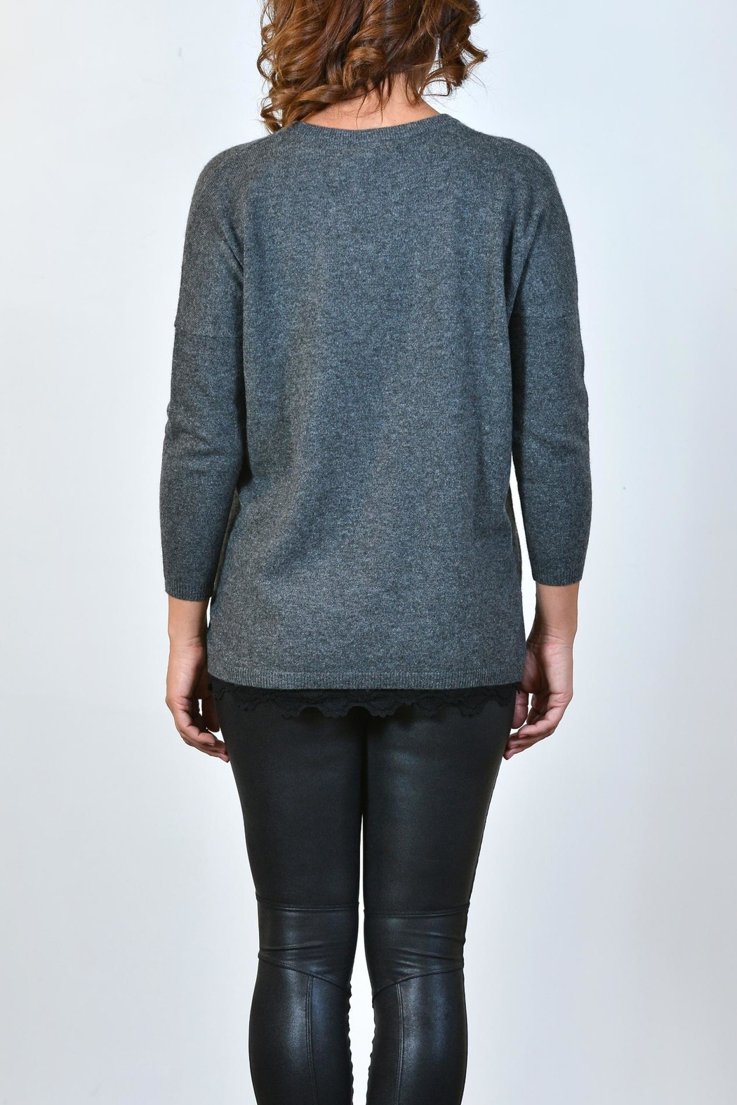 Brodie Heart Cashmere Sweatshirt - Front Full Image