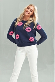 Brodie Scoop neck cashmere pullover sweater - Product Mini Image