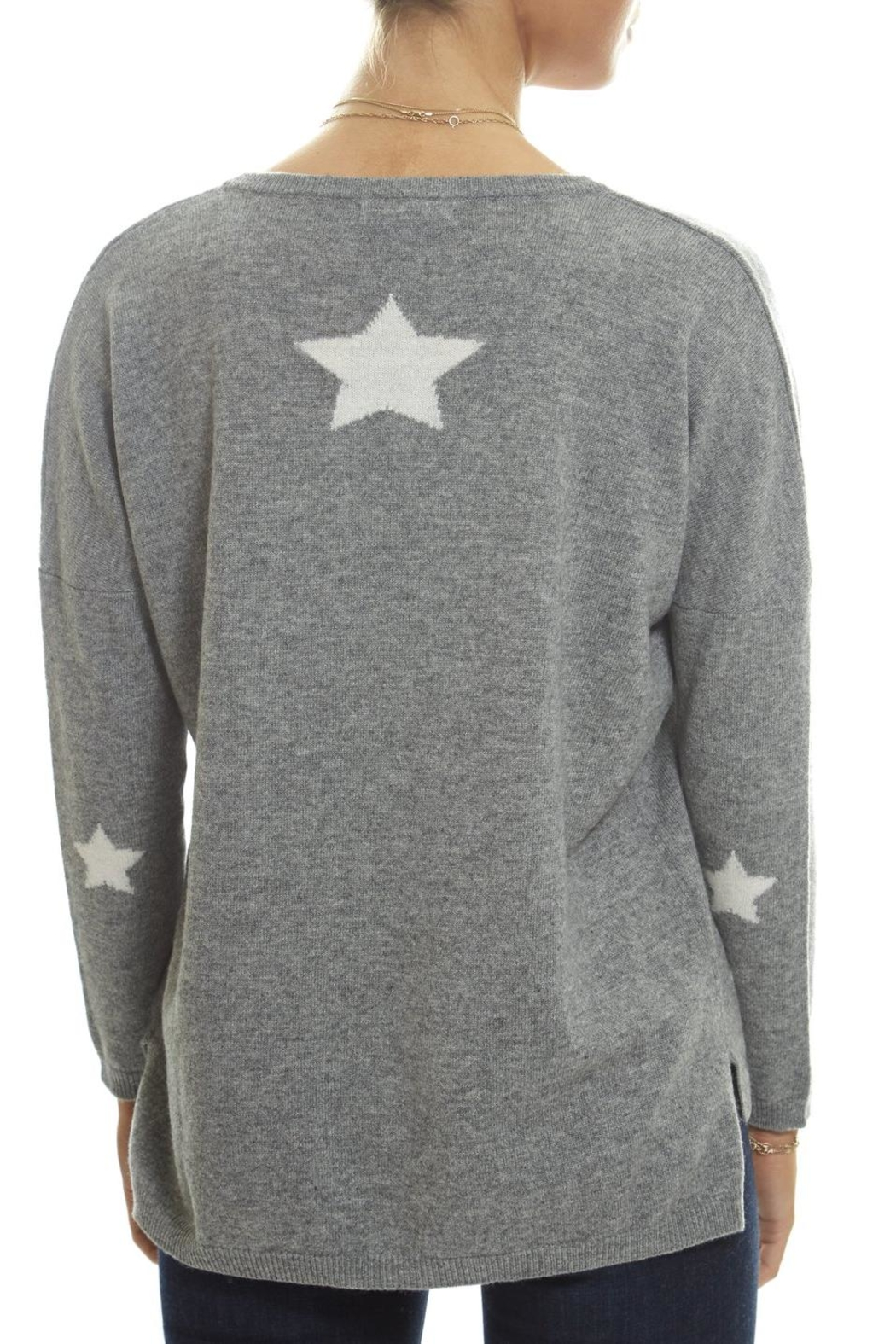 Brodie Stars V-Neck Sweater - Side Cropped Image