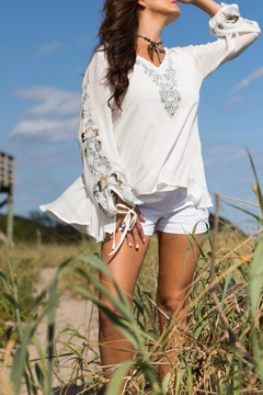 Shoptiques Product: Journey Embroidered Top
