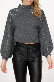 Haute Rogue Bronte Studded Sweater - Back cropped
