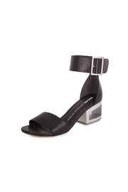 Bronx Black Leather Sandal - Front full body