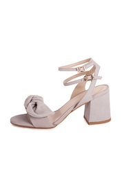 Bronx Grey Suede Sandals - Front full body