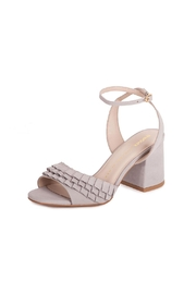 Bronx Grey Suede Heeled Sandals - Front cropped