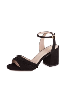 Shoptiques Product: Black Suede Heeled Sandals