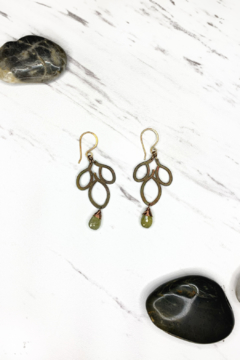 Shoptiques Product: Bronze 3 Leaf Drop Earring w/Grosler