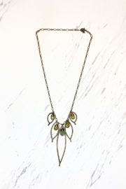 Viki Jewelry Bronze Cluster Necklace w/Grosler Stone - Product Mini Image