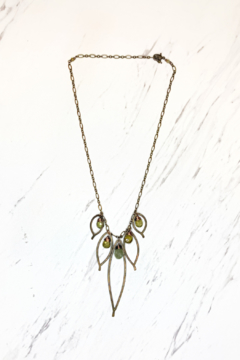 Shoptiques Product: Bronze Cluster Necklace w/Grosler Stone