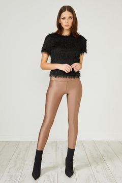Urban Touch Bronze Glitter Leggings - Product List Image