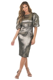 cq by cq Bronze Metallic Dress - Product Mini Image