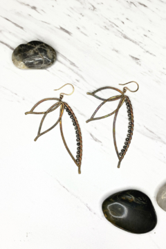 Shoptiques Product: Bronze Paradise Earring w/Silver