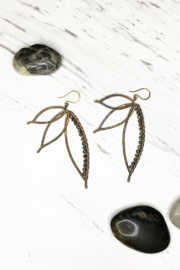 Viki Jewelry Bronze Paradise Earring w/Silver - Front cropped