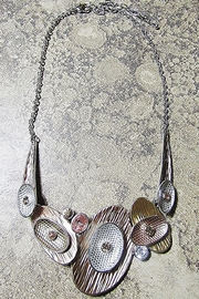 Sophia BRONZE & SILVER OVALS NECKLACE - Product Mini Image