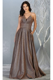 May Queen  Bronze Strapless A-Line Formal Long Dress - Product Mini Image