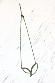 Viki Jewelry Bronze Wing Necklace w/ Pervian Opal - Product Mini Image