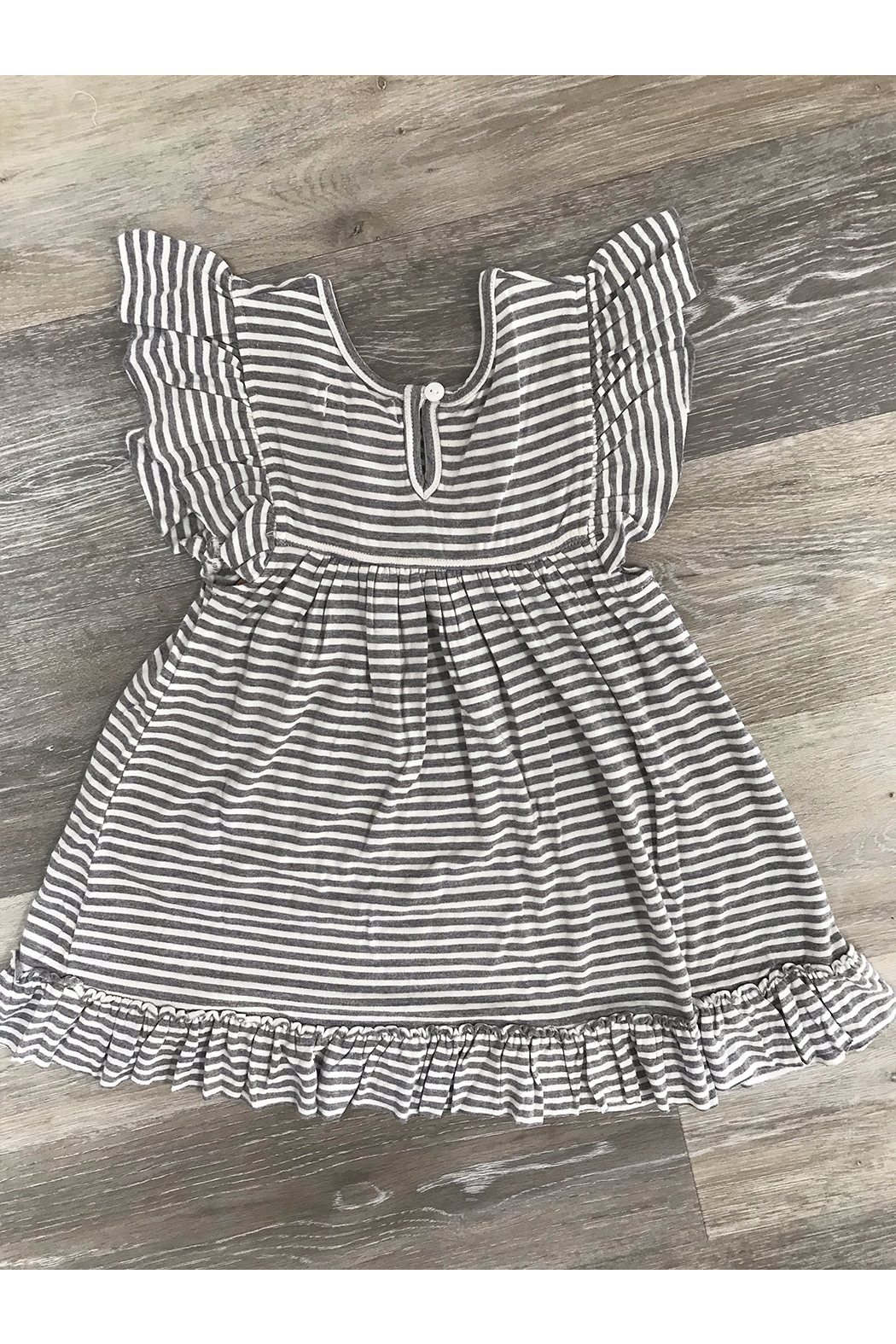 Mimi and Maggie Brook Knit Stripe Dress - Front Full Image