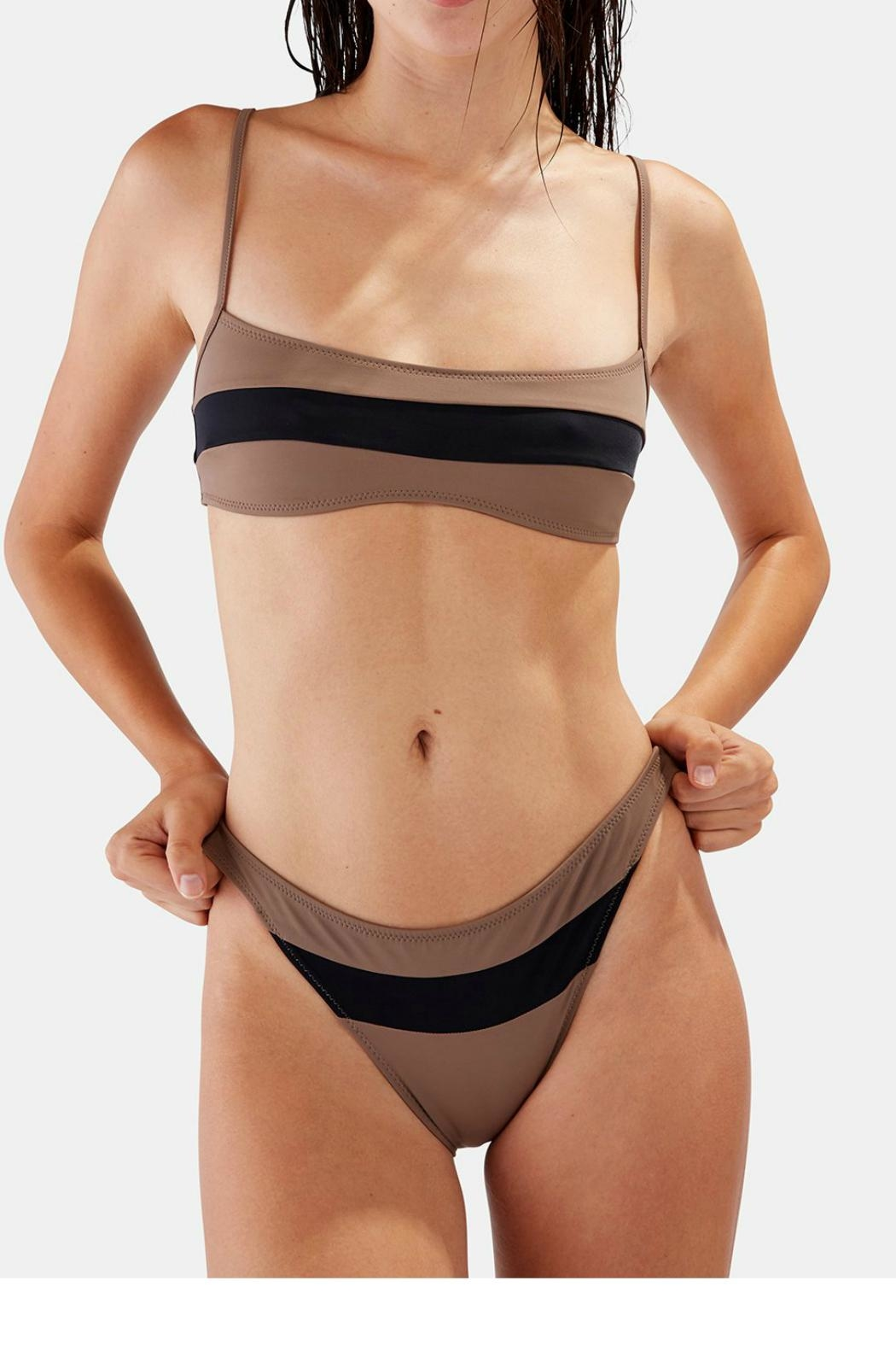 Womens Brooke Striped Bandeau Bikini Top Solid & Striped Buy Cheap Best Seller Quality Outlet Store DUlf76