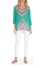Tolani Brooke Teal Top - Product Mini Image