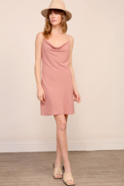 Timing Brooklyn Cowl Neck Mini Dress - Front cropped