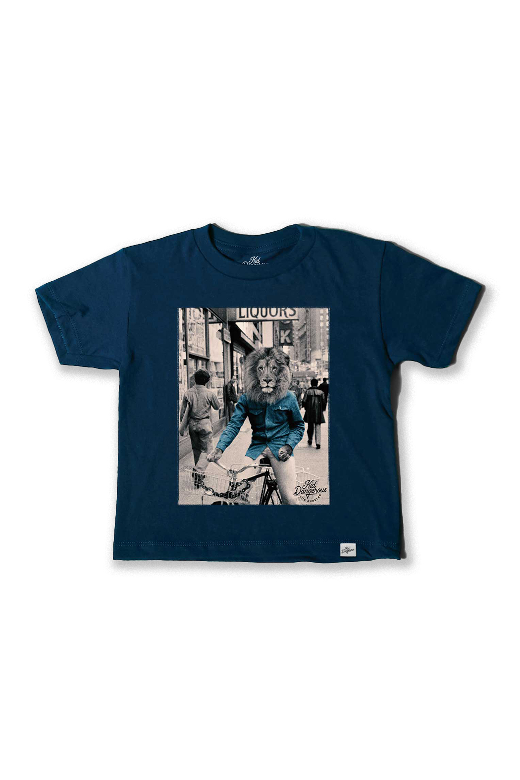 Kid Dangerous Brooklyn Lion Tee - Front Cropped Image