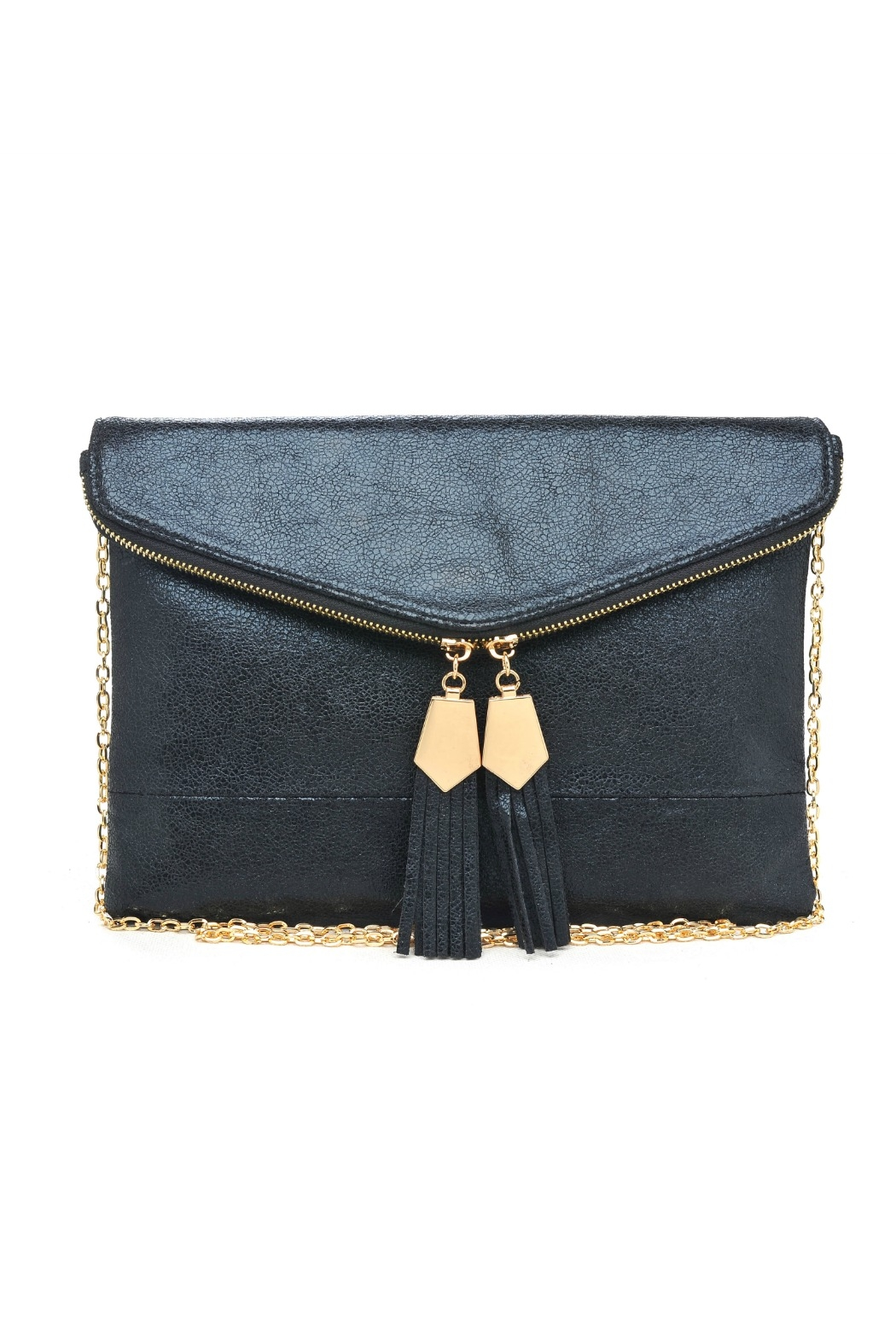 Urban Expressions Gold Detailed Tassel Clutch - Main Image