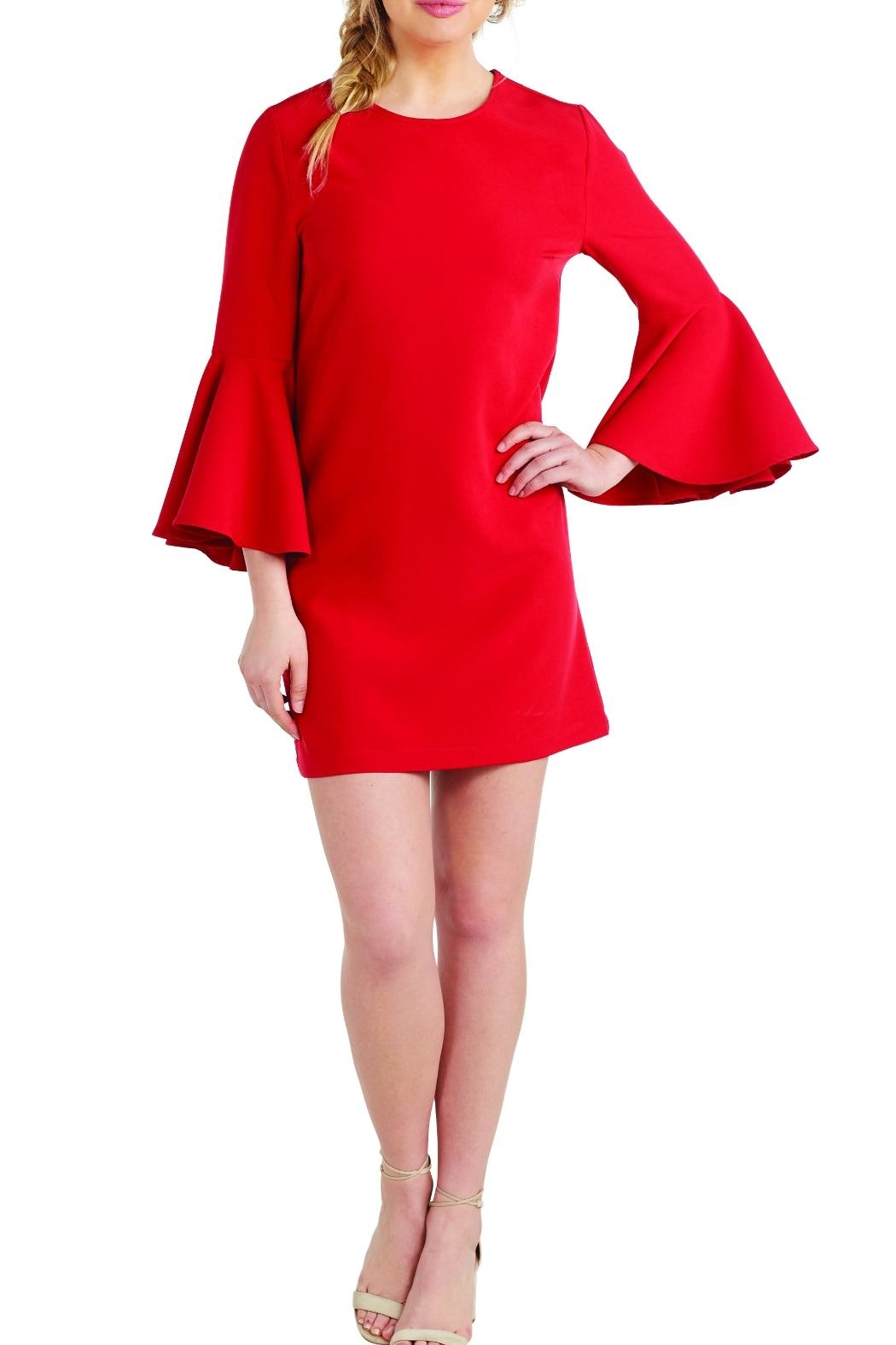 Mud Pie Brooks Bell-Sleeve Dress - Front Cropped Image