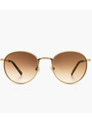 DIFF Brooks Gold & Brown Gradient Sunglasses - Product Mini Image
