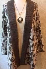 Nic + Zoe  Brown/beige long cardigan sweater - Product Mini Image