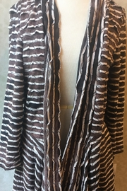Frank Lyman Brown and white striped long cardigan - Product Mini Image