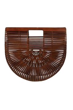 Shoptiques Product: Brown Bamboo Clutch