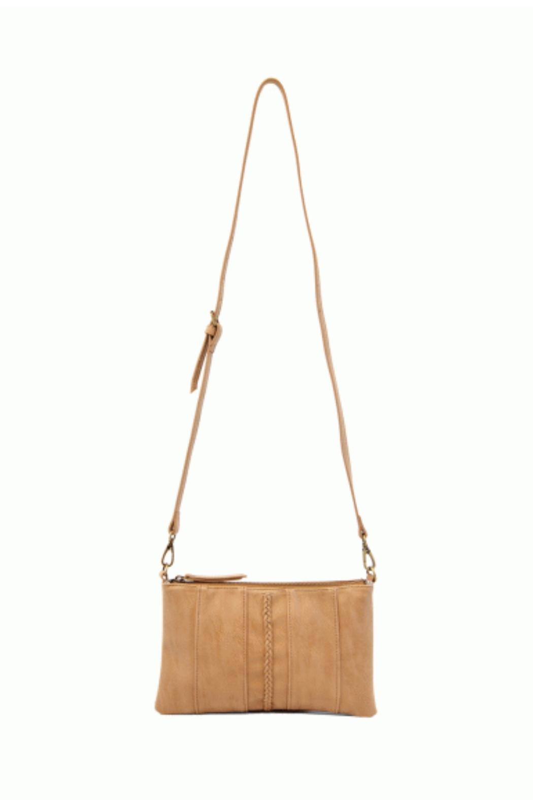 Joy Susan Brown Braided-Front Crossbody - Front Full Image