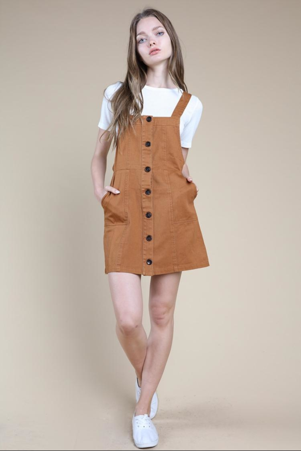 new styles convenience goods lovely luster Wild Honey Brown Button-Up Dress from Los Angeles by Chikas ...