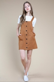 Wild Honey Brown Button-Up Dress - Product Mini Image