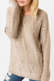 Cozy Casual Brown Cable-Knit Sweater - Product Mini Image