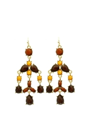 Mimi's Gift Gallery Brown Chandelier Earrings - Product Mini Image